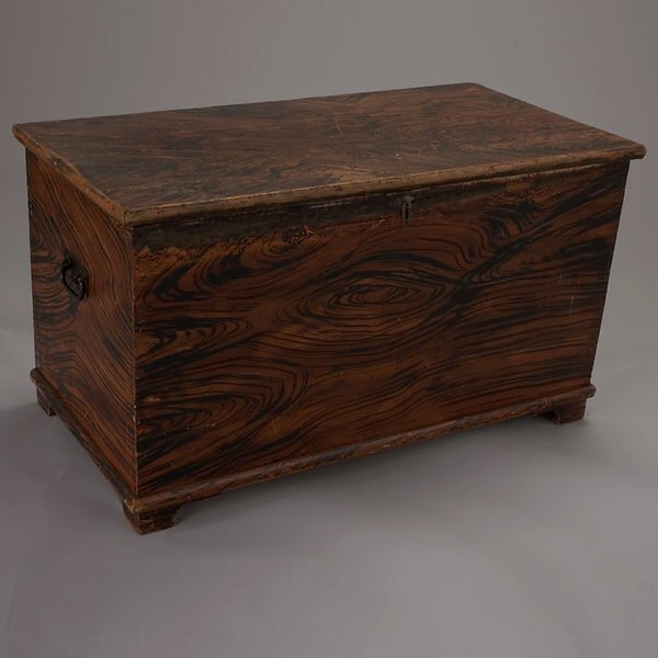 1003: American Painted Blanket Chest