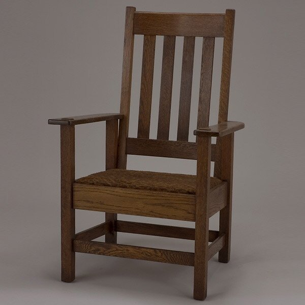 1011: Stickley Brothers Oak Armchair