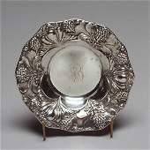 1106: Art Nouveau Gorham Sterling Repousse Poppy Bowl