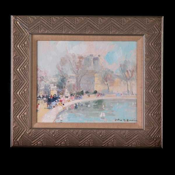 1006: Jules Herve -Les Tuilleries, Paris. Oil