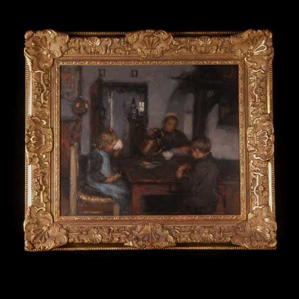 1007: F. Charlet, Family at the Dining Table