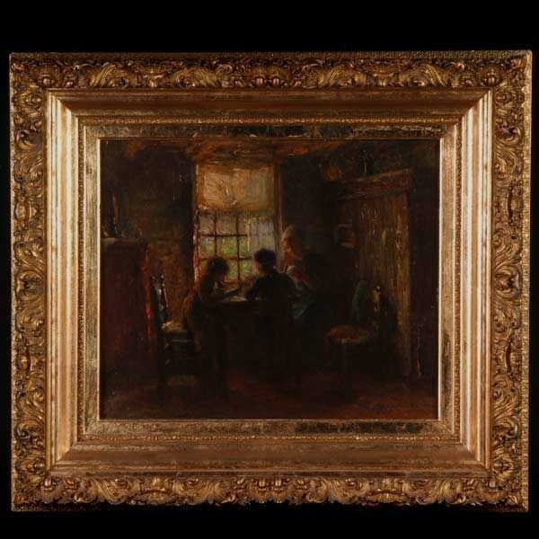 1008: B. J. Blommers, Dutch Interior, Oil