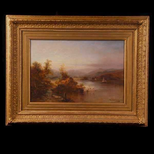 1011: Max Sinclair, Coniston Water, Oil Paint