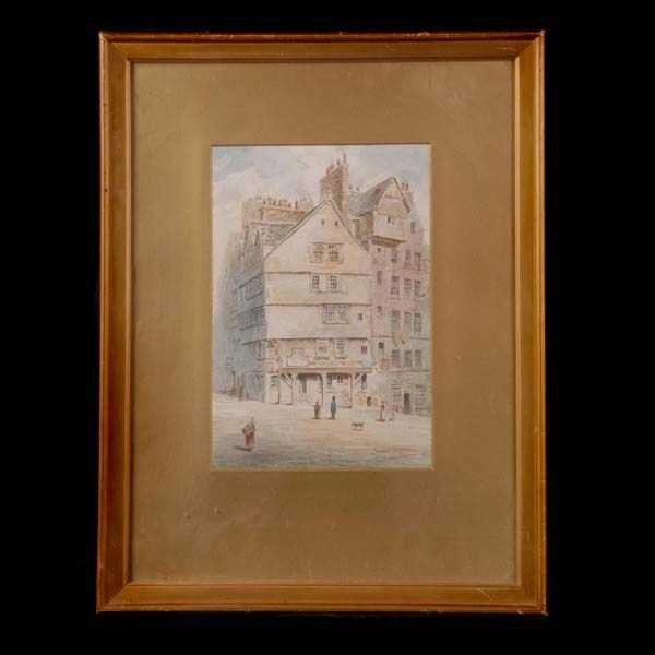 1013: J. baynes, City Scene, Watercolor