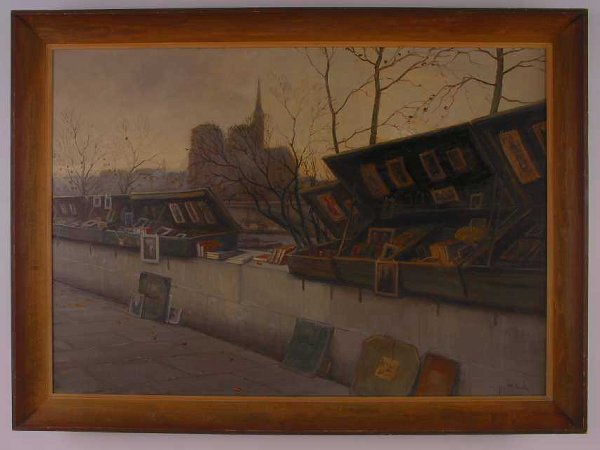 1017: Beck, Paris Dans Le Seine, Oil Painting