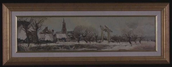 1020: Louis van der Pol-Winter Sky-oil