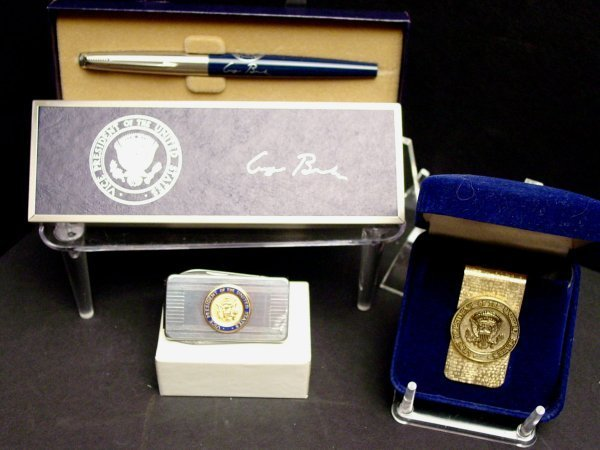 1: Vice President George Bush Pen and VP Items