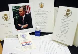 Pres George H. W. Bush Presidential Items, 8