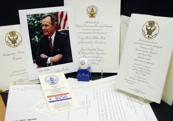 2: Pres George H. W. Bush Presidential Items, 8