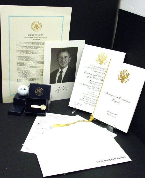 3: President George W Bush Inauguration Items 2 Pres Gi