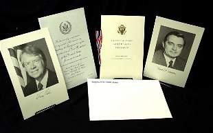 Jimmy Carter Inaugural Invitation and Program