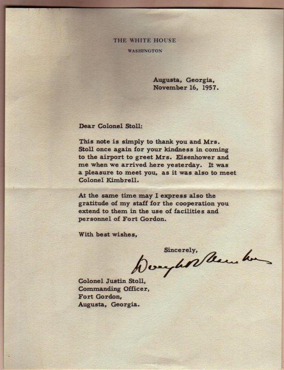 9: Pres Eisenhower Autograph Letter, 11 Photos