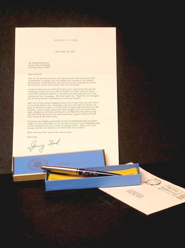 10: President Gerald Ford, Letter and White House Pen