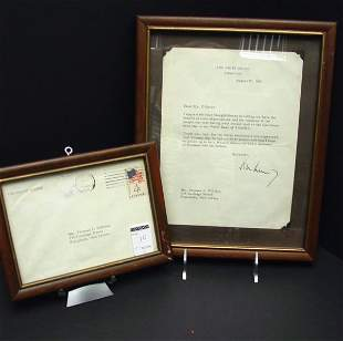 President John F. Kennedy Letter Signed