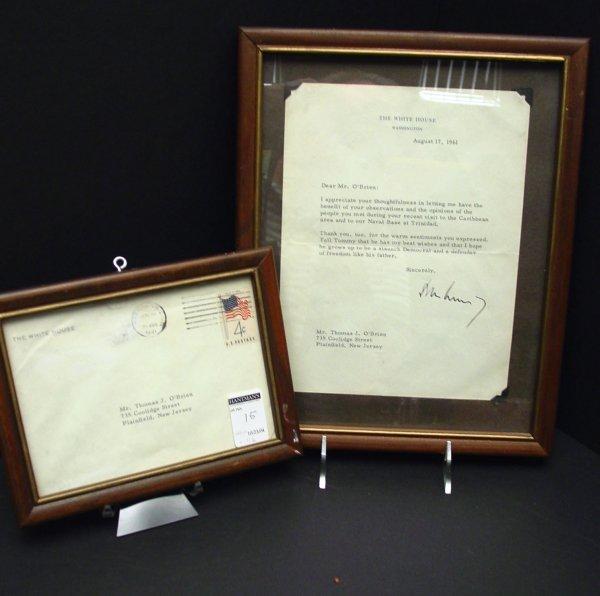 14: President John F. Kennedy Letter Signed