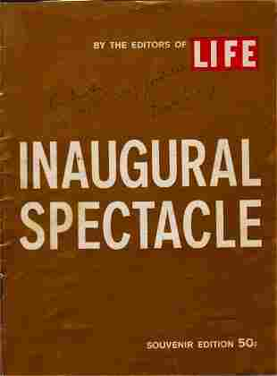 Inaugural Spectacle, Signed by President Kennedy