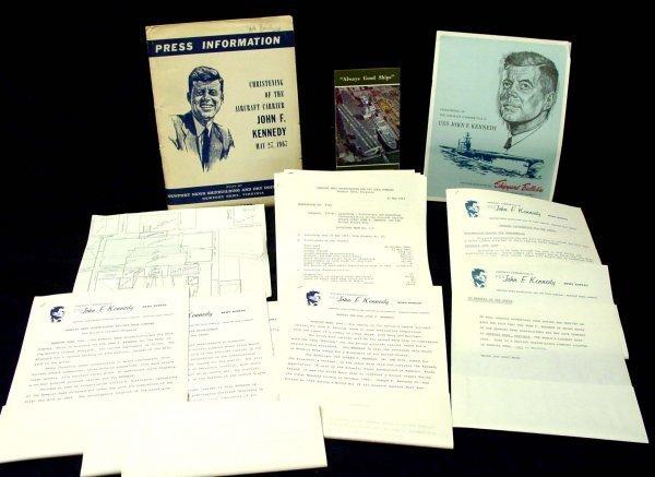 19: John F Kennedy Aircraft Carrier Christening, Press