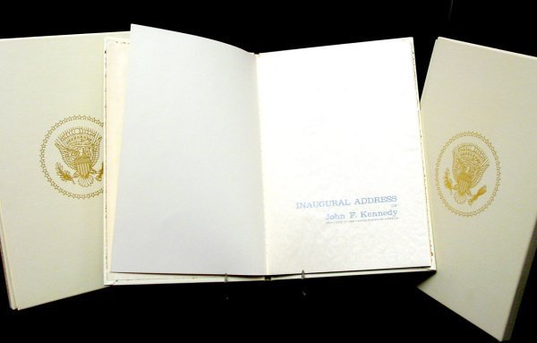 21: Pres. Kennedy's Inaugural Address, Bound Copies, 3