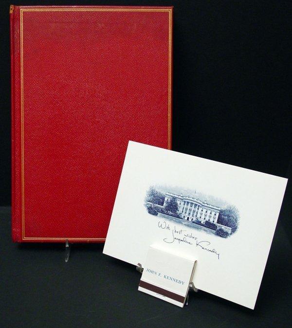 23: Kennedy White House Items, Card, Matchbook, Bk