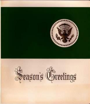1961 Kennedy White House Christmas Card