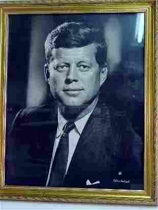 JFK photograph by Bachrach;