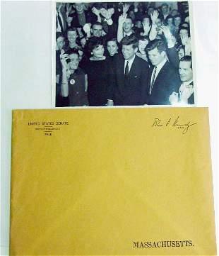 Senator John F. Kennedy photograph;