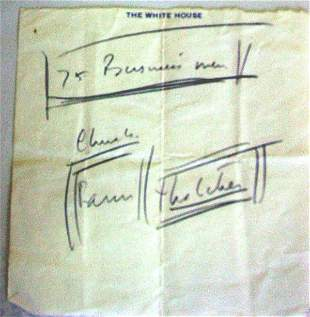 President Kennedy White House note