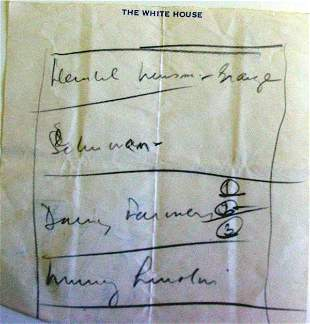 Kennedy White House notes