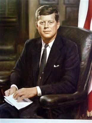 President Kennedy Photo by Bachrach ;