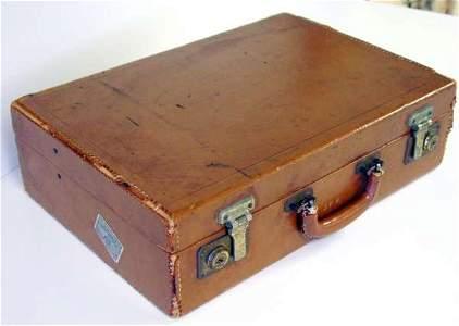101A: John F. Kennedy leather attache case