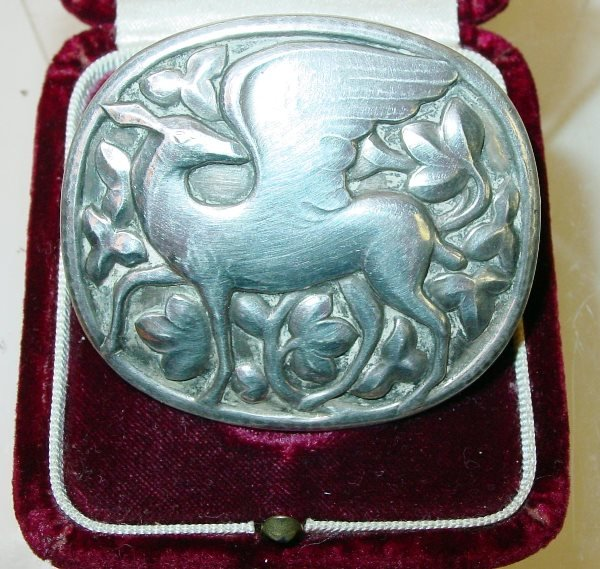 3: Georg Jensen Sterling Silver Mythical Deer Brooch