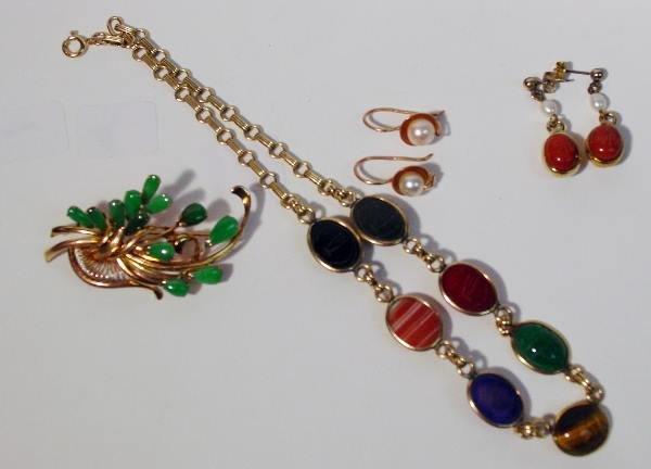 6: Yellow Gold Jadeite, Scarab Jewelry and Pearl Jewelr