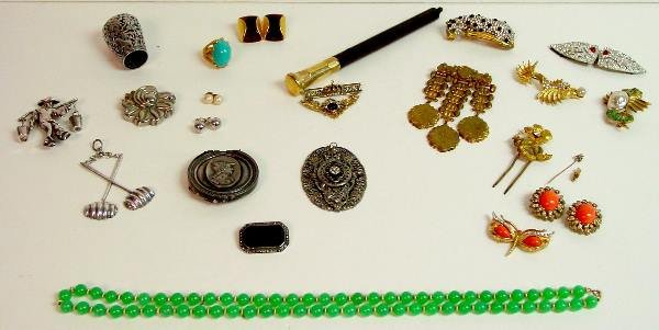 7: Victorian, Silver, Silver Plate and Costume Jewelry
