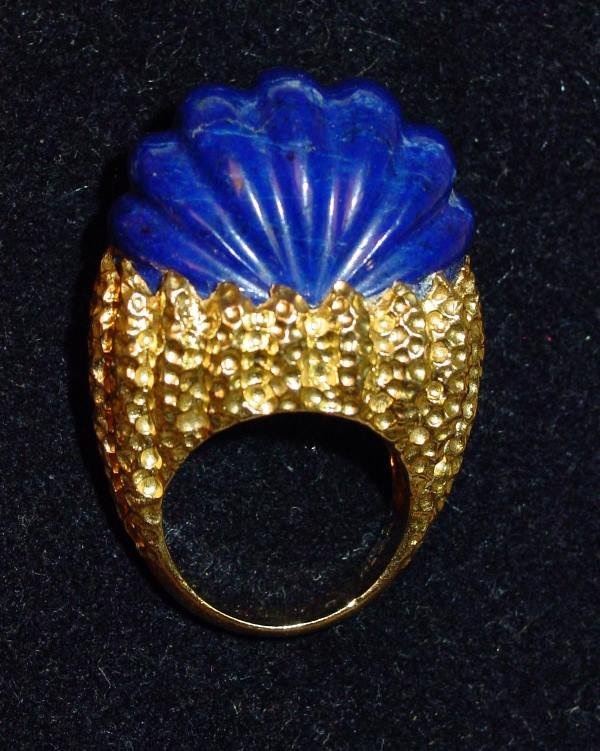 12: 18K Yellow Gold and Lapis Lazuli Dinner Ring