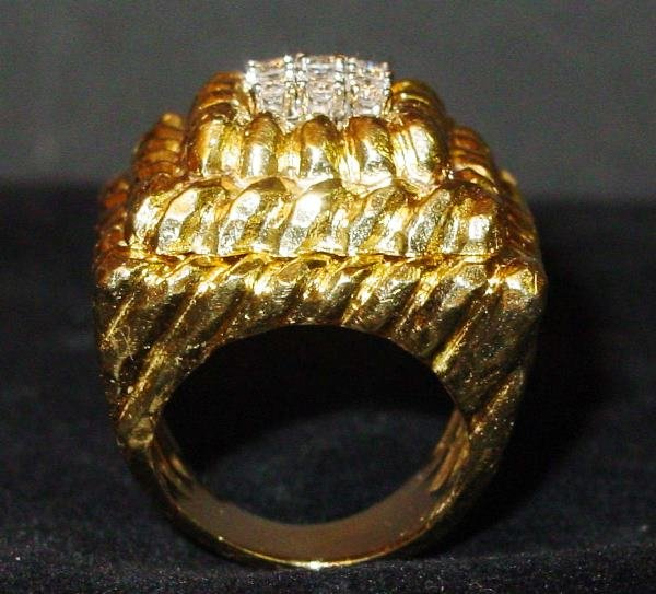 13: Yellow Gold and Diamond Dinner Ring