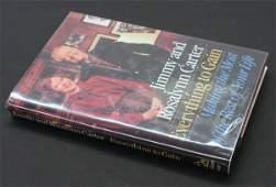 351: Jimmy & Rosalynn Carter, 1st edition, signed.