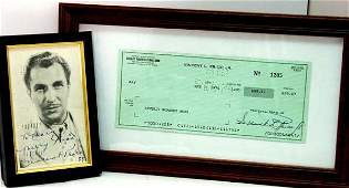 28 Vincent Price Signed Check