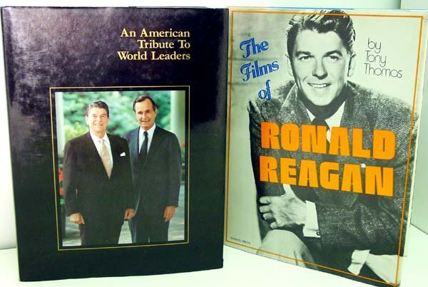 313: Ronald Reagan Signed Books.
