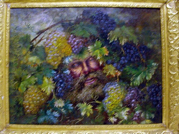 212: Bacchus Oil on Canvas