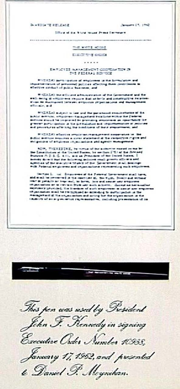 1312: John Kennedy Signing Pen