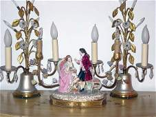 1107: Continental Style Figural Lamps