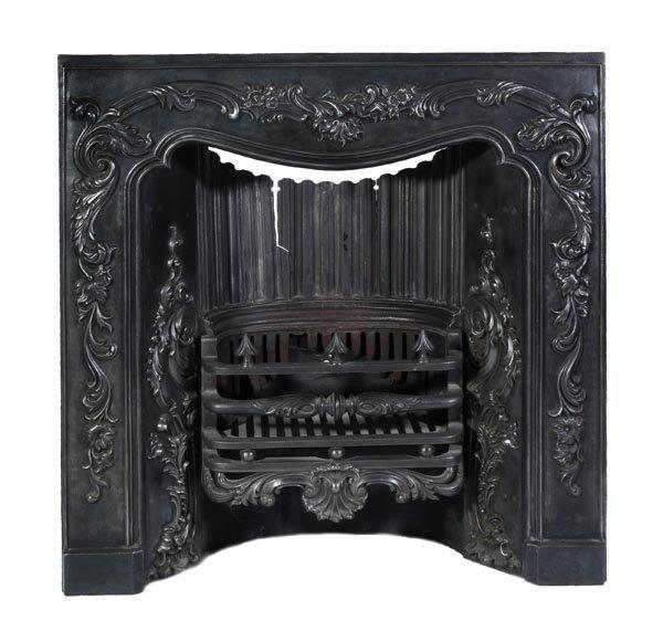 A Victorian Scottish cast iron register grate, mid
