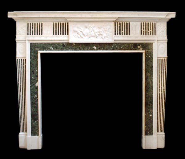 A Victorian sculpted statuary white marble and mar