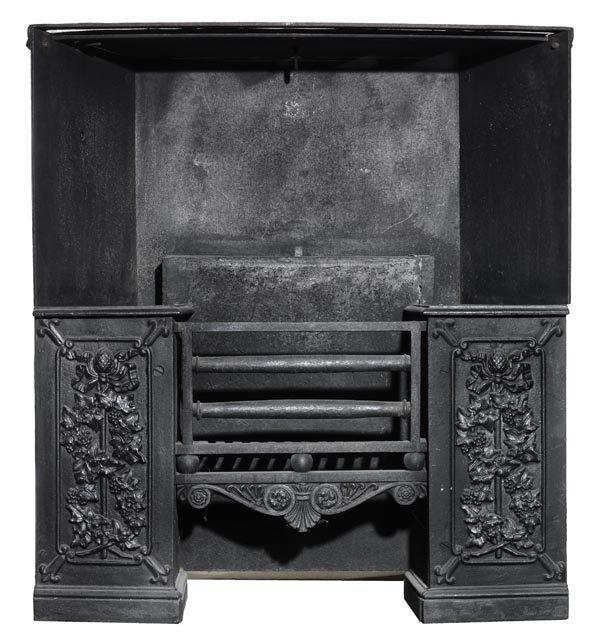 A George IV cast iron register grate, circa 1825,