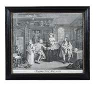 After William Hogarth a set of six uncoloured cop