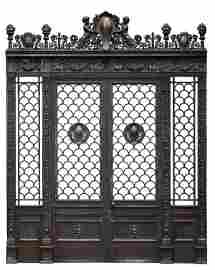 The Empire House bronze doorway, a substantial and