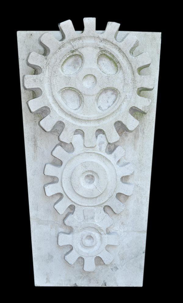 A sculpted Portland stone keystone, mid 20th centu
