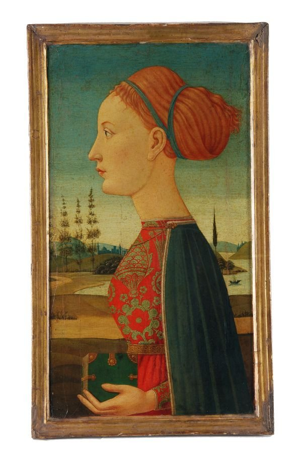 Manner of Piero Pollaiuolo Profile of a woman, wit