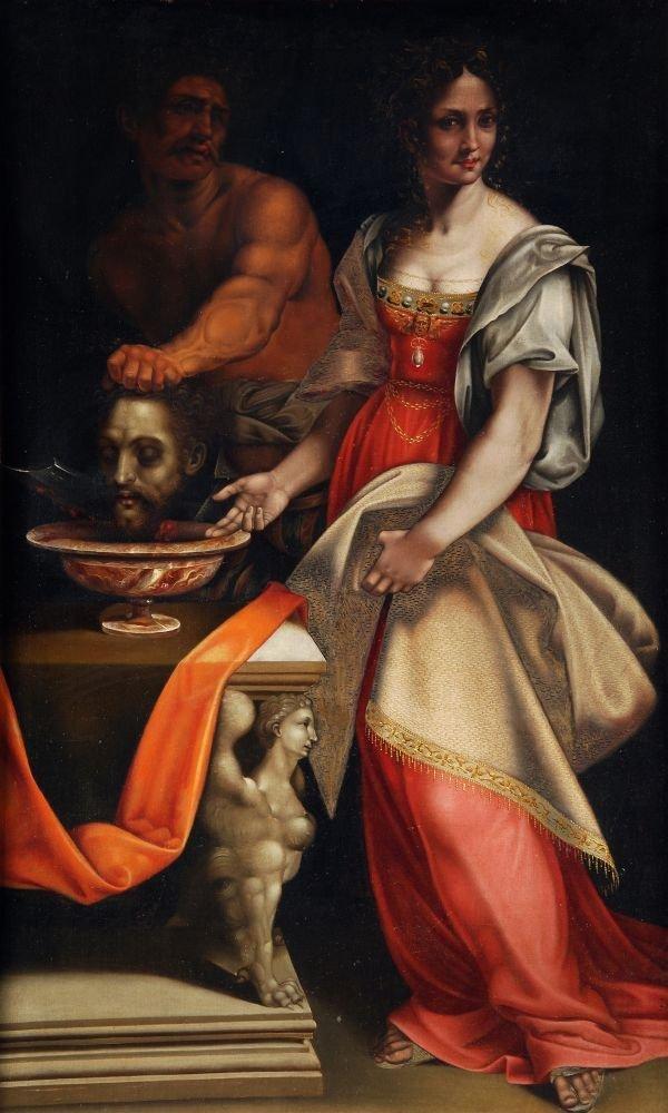After Cesare da Sesto Salome with the Head of Sain