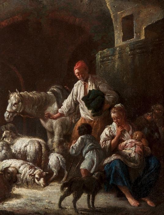 Giorgio Giacoboni (1716-1762) A shepherd and his f